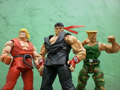 STREET FIGHTERS (THE AMAZING KIKEMAN) Tags: street comics fighter action ken rhino figure wesley blade marvel ryu guile capcom punisher snipes adon