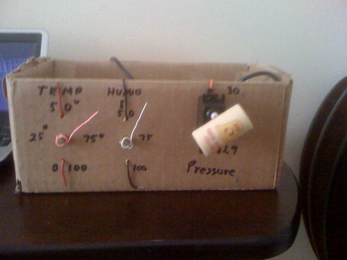 Working physical weather station mockup