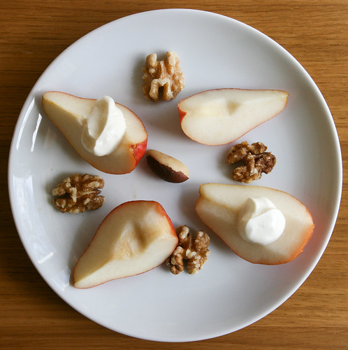 Pears, nuts and Greek yogurt