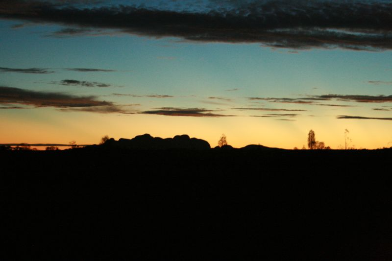 sunset over the olgas