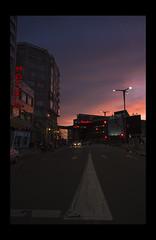 Nutico nightfall (Dr.Ev..!!!) Tags: street red hotel calle mediamarkt vigo nightfall nautico