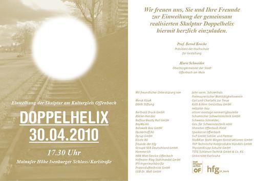 Doppelhelix 30.4. Eröffnung