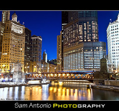 Lost on Michigan Avenue (Sam Antonio Photography) Tags: travel bridge vacation usa lake chicago water wisconsin architecture night canon river landscape photo illinois midwest flickr cityscape unitedstates dusk michigan searstower lakemichigan creativecommons bluehour millenniumpark trumptower wrigleybuilding michiganavenue chicagoriver obama gettyimages appleton facebook magnificentmile compactcamera skyscapers windycity michiganavenuebridge chicagovacation g9 canonphotography twitter canoneos50d chicagophotography canong9 canonpowershotg9 willistower samantonio samantoniophotography corruptobama bubblespiritlevel