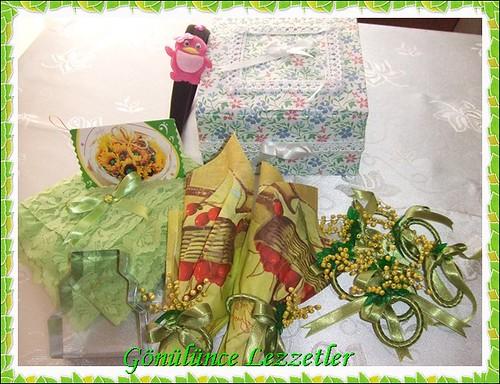 yeşil papatya hediyeleri