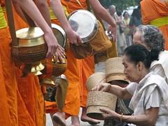Pindapata in Luang Prabang