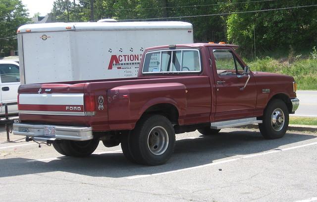 ford truck nc burgundy 1987 north pickup carolina 1991 f350 dually