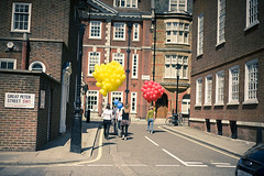Day 18 of FiftyFifty (*Lucette*) Tags: london westminster balloons 50mm labour conservatives sw1 liberaldemocrats londonist fiftyfifty greatpeterstreet nikond700 theelectionproject
