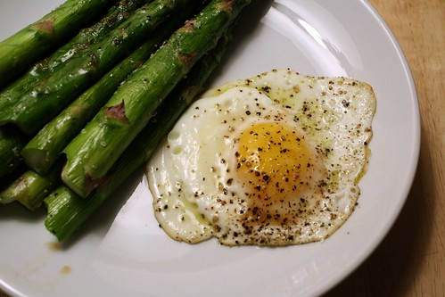 Roasted Asparagus w/ Fried Egg