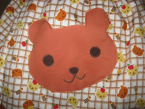 Bear Applique Skirt 009