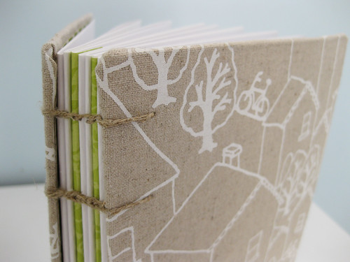 hand made journal by Nothing Sketchy - rooftops