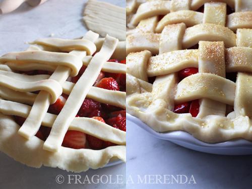 pie di fragole: intreccio e chiusura (pasta)