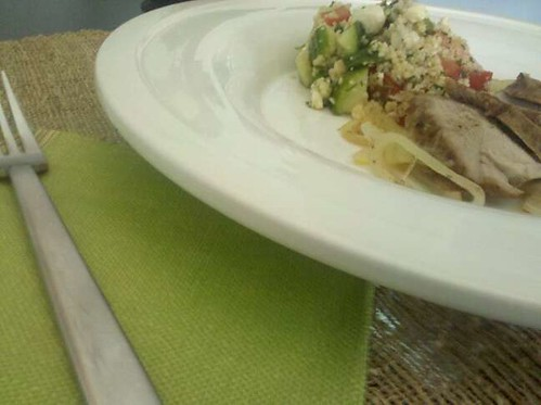 Moroccan Pork Loin and Athenian Couscous Salad