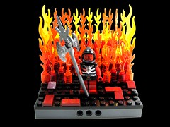 Demon (Moctagon Jones) Tags: art lucifer lego flames hell fantasy satan horror demon devil diablo vignette hades moc beelzebub baphomet princeofdarkness belial sammael azazel moctagonjones