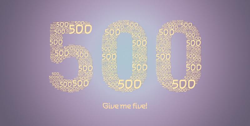500 beiträge