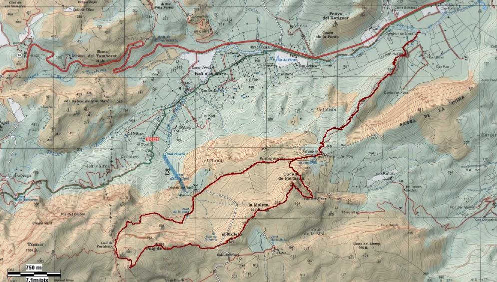 Mapa Alpina Camino