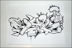 Setik01 (Setik01) Tags: urban streetart art graffiti design sketch paint tag cartoon marker network hiphop spraypaint uni baboon piece aerosol spraycan blackbook fatcap posca setik