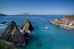 The Dunquin harbour (Dingle, Ireland) (BreizHorizons) Tags: ireland dingle irlande dunquin dinglepeninsula blasketisland dunquinharbour dirlande blasketislandunquinharbour