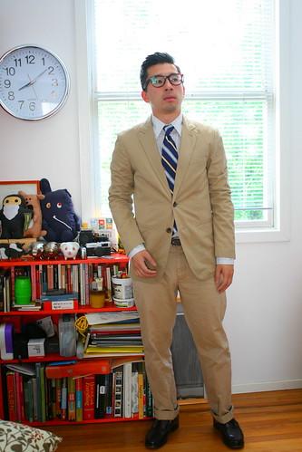 Khaki Suit. Boom.