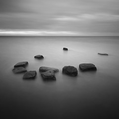 Lilstock Rocks I (Adam Clutterbuck) Tags: ocean uk longexposure greatbritain sea england blackandwhite bw beach monochrome square mono coast blackwhite sand rocks mud unitedkingdom britain somerset bn severn coastal elements gb cubes bandw sq hinkley greengage lilstock adamclutterbuck sqbw bwsq showinrecentset