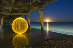 Ball of Light - Distantly Related? (biskitboy) Tags: longexposure nightphotography light lightpainting color colour reflection slr art colors electric night canon ball dark circle landscape amazing globe ruins colorful warm exposure colours nightshot bright artistic space orb balls australia led reflect sphere round paintingwithlight reflective adelaide 5d outback nightshots brightcolors colourful orbs incredible southaustralia brightness circular spherical shocking brightcolours lightart spacey balloflight canonslr 450d denissmith flickraward flickraward5 colourbrightcolors