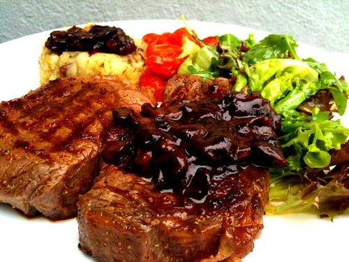 Simple Steak with Mushroom Sauce - Life is Great