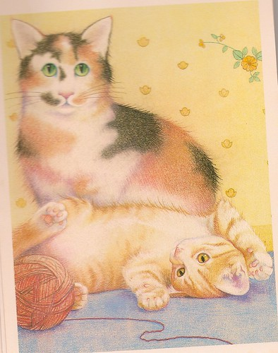 Cat & Kitten Postcard