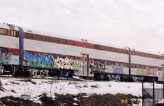 Crazy line up (Billy Danze.) Tags: fish chicago train graffiti jet bad thc tac esp stef kym kd tyke temper trixter feds tnb denz j4f suer