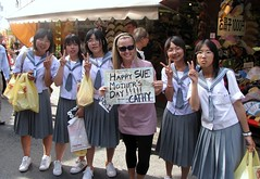 Ash with Japanese School Gals