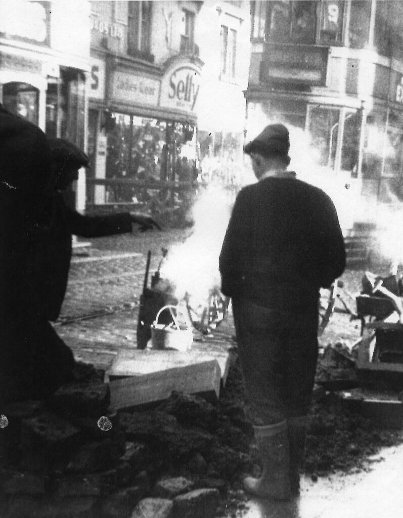 Road Works at Bridgeton Cross 1955
