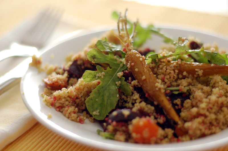 Couscous Salad with roasted vegetables // Salada de Cuscuz com vegetais assados