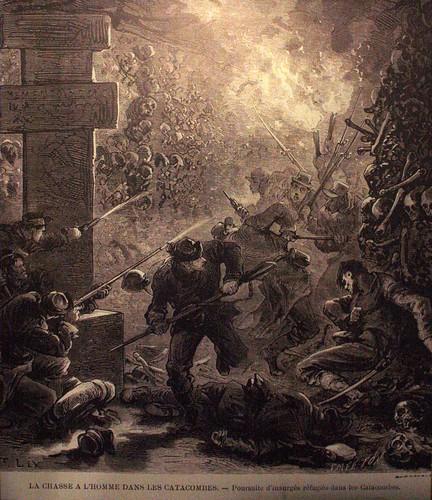 Lucha en las catacumbas de París