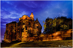 House on the Hill (Simon-P) Tags: summer cloud lightpainting stone architecture night landscape scotland edinburgh experimental cityscape unitedkingdom fineart torch historical concept 2010