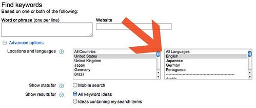 Google multilingual keyword tool