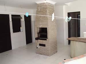 foto de churrasqueira de tijolo