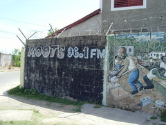 Roots, community radio in Kingston Jamaica (bbcworldservice) Tags: world school girls boys gardens tivoli town athletics downtown assignment champs christopher coke lord kingston bbc jamaica drug service 2010 denham dudus