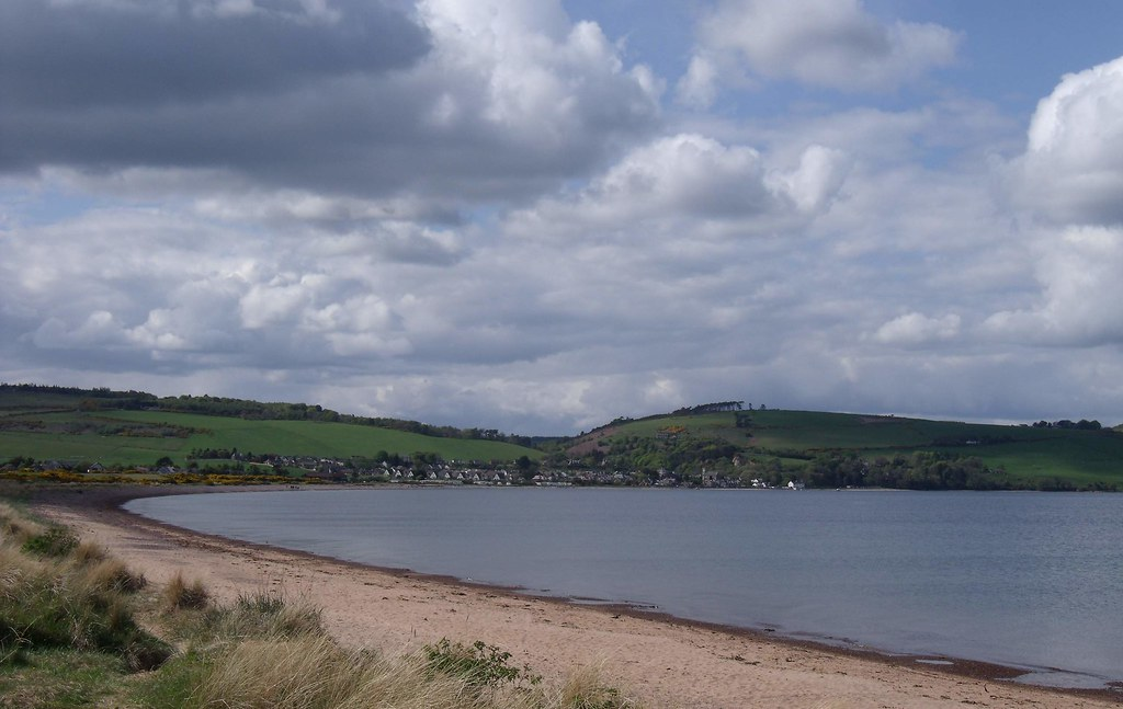 Rosemarkie and its Bay from Chanonry Point - Black Isle - Ross & Cromarty Scotland