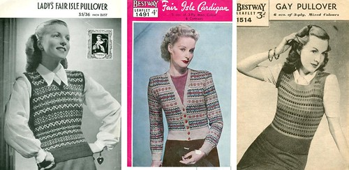 Fair Isle, Vintage Knitting Lady Patterns