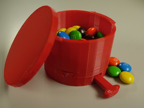 3-D printed candy machine