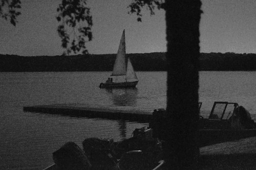 Sailing on Lake Wingra by Moonlight