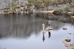 Some fishing on the way (pasto) Tags: norway norge cs preikestolen lysefjord pulpitrock couchsurfing rogland hikemountain