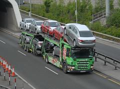 Green Tiger Express [05D26281] Scania P420 (Longreach - Jonathan McDonnell) Tags: ireland dublin truck toyota scania cartransporter dublinporttunnel scaniap420 greentigerexpress