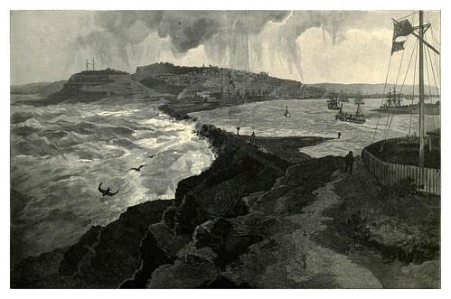 017-Newcastle desde el acantilado Nobby's-Australasia illustrated (1892)- Andrew Garran