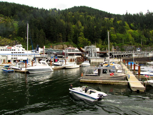 Horseshoe Bay marina in a spectacular setting in West Vancouver