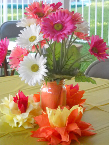 Caroliens Blog For The Centerpieces We Used Some Mason Jars And