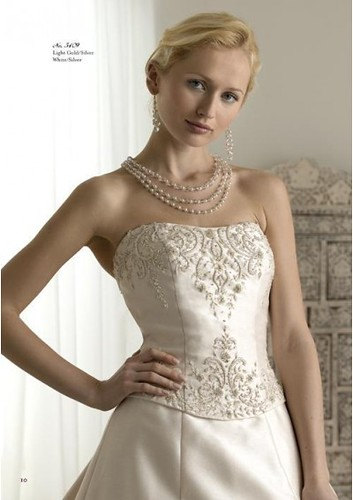 Bridal style 2010 model with embroidered A-line