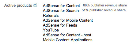 AdSense Revenue Share Display