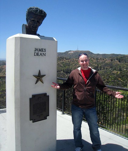 Hanging out with James Dean at the Griffith Observatory - Los Angeles, CA