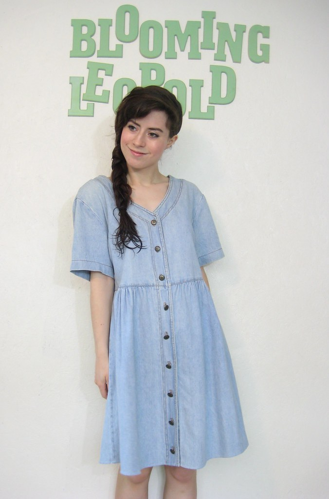 vintage faded denim dress