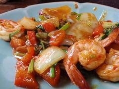 Cours de cuisine -> Sauté de crevettes