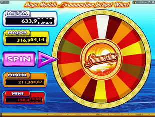 free Mega Moolah Summertime progressive jackpot